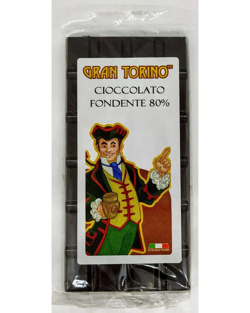 Barretta di Cioccolato Fondente 80% 90 gr - Gran Torino
